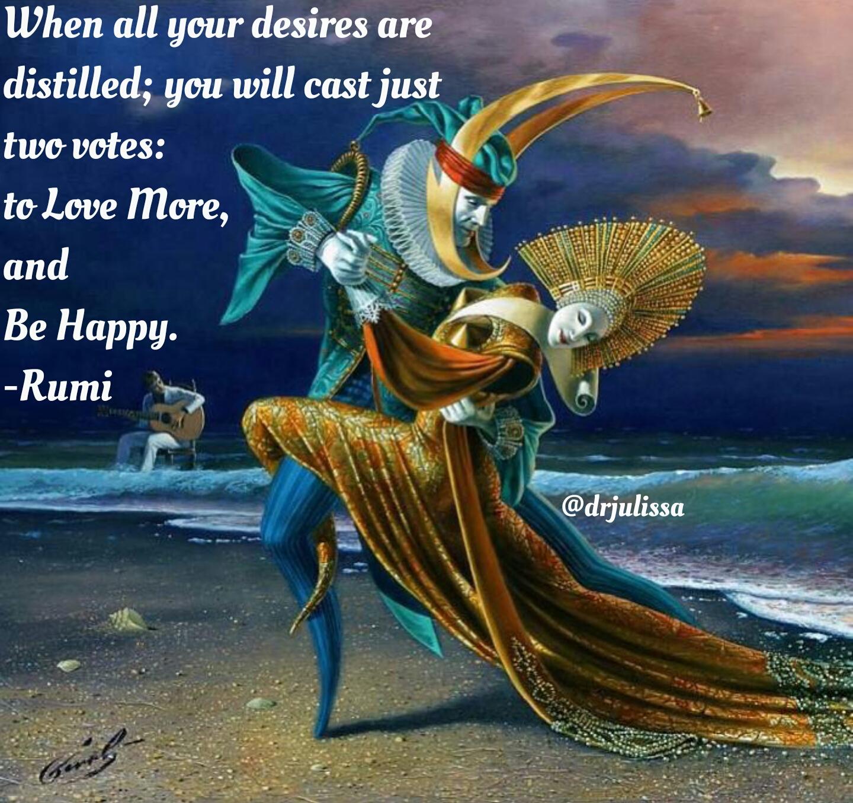 VoteLoveAndHappiness #NowHeal #rumi #love #happiness #yoga